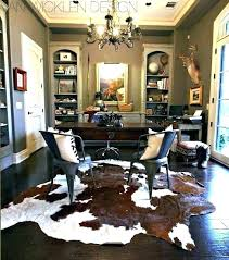 raw hide rug cowhide living room ideas rawhide rooms adorned with design small black and white raw hide rug