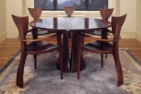 Tinsman Dining Table Round Dining Table Seth Rolland - Walnut dining room furniture