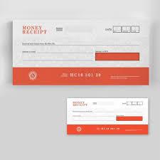 Money Receipt One Color 4 5 X10 5