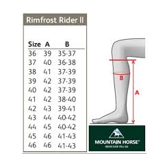 Mountain Horse Jacket Size Chart Mountain Horse Rimfrost Rider Ii Adult Riding Boots Black