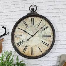 pocket watch style map wall clock pocket watch style map wall clock