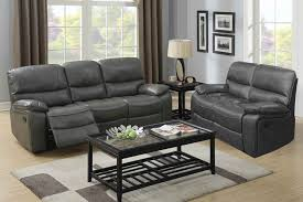 Modern Grey Sofa Living Room Gray Leather Sectional Charcoal Couch