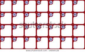 Blank Wall Chart Alphabet Wallchart Educational Purposes Blank Spaces Stock