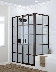 black steel framed shower doors implausible bathroom frame