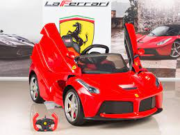 The licensed maserati levante licensed ride on car is looking to be one of our biggest hits with parents and grandparents alike. Ferrari 12v Laferrari Kids Electric Ride On Car With Remote Control Red