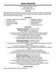 sample warehouse resume. Resume For Warehouse Job