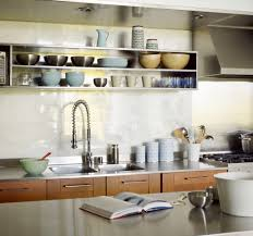 Kitchen Open Shelving Kitchen Contemporary with Double Sink Island Marble