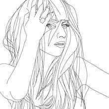 lady gaga coloring pages. Fine Gaga Lady Gaga Posing Close Up Coloring Page  Coloring FAMOUS  PEOPLE Pages LADY In Pages