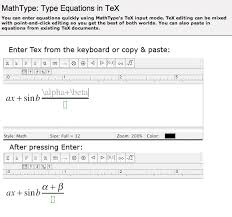 type equations in tex