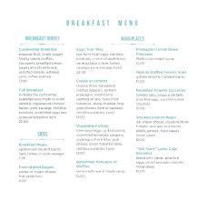 Breakfast Menu Template Jaxos Co
