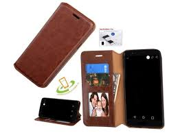 for google pixel 2 xl leather flip wallet phone case cover stand brown kit