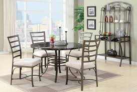 round wrought iron kitchen table decorated in amazing dining room with black marble top and wrough