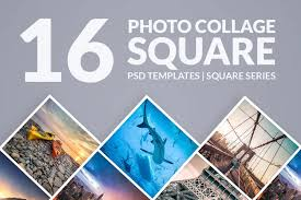 Photoshop Templates Photo Collage Square
