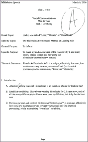 Special Occasion Speech Outline Example Pg 1 Current Event Pi – Trufflr