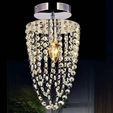 small led chandelier light e12 e14 crystal mini pendant lights flush mount hanging lamps hallway lighting fixture 110v 220v clear glass pendant lighting