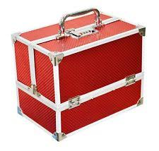 wedding gift bridal red vanity kit case jewellery make up kit storage box