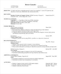 11 Computer Science Resume Templates Pdf Doc Free Premium