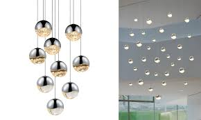 sonneman 9 light round assorted led pen with ceiling mount with neenas lighting for family room