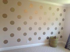 Reader Submission: Gold Polka Dots and Ombre Wall