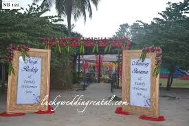 Indian Wedding Name Board Design Name Boards Decorations On Rent Lucky Wedding Rental