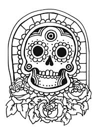 Design A Sugar Skull Online Coloring Page For Kids Coloring Page For Kids Free Sugar