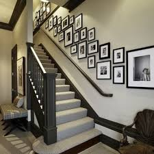 staircase wall decorating ideas transitional-staircase