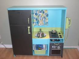Play Kitchen From Old Furniture Project Play Kitchen Diy Plans Using A Used Entertainment Center
