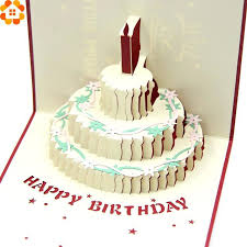 3d Birthday Cake Pictures Free Happy Cards Laser Cut Folding