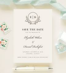 Save The Date For Wedding Elegant Monogram Script Save The Date Wedding Engagement Announcement Printed Cards Heirloom Collection 001