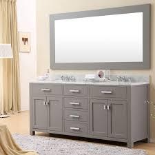 daston 72 inch gray double sink bathroom vanity carrara white marble top
