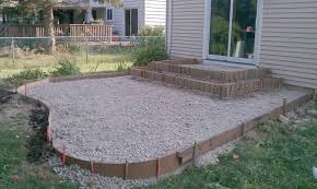 poured concrete patio designs patio and steps were framed concrete raised garden raised concrete slab