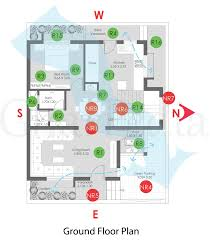 plan ysis of 4 bhk duplex 117 sq mt ground floor plan