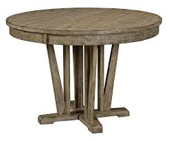 round dining table with extension leaf furniture foundry rustic weathered gray