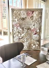 Paper Flower Wall Rental Rent Tables And Chairs For Baby Shower Paper Flower Wall