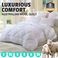 Jason Australian 500gsm Wool Super King Bed Quilt - White   eBay & 350/500/700GSM All Size Australian Wool Quilt Doona Duvet Down Summer Winter Adamdwight.com
