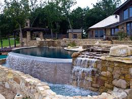 infinity waterfall. natural stone waterfall infinity