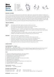 Curriculum Vitae For Nurses Best Resume Template Nursing Letsdeliverco