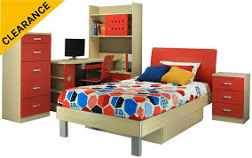 MONTANA Bedroom suite package 5pc -Red