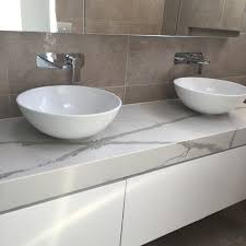 polyurethane vanity with 100mm stone benchtop