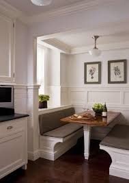 Inspiration for breakfast nook with board and batten paneling in our  vintage old rehab house's laundry