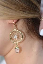Dream Catcher Earing Crystal Quartz Dream Catcher earrings LovMely 82