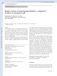 Pdf Relative Potency Of Proton Pump Inhibitors Comparison