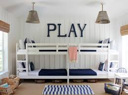 Loft Bed Small Bedrooms Bedroom White Rustic Wooden Bunk Bed Blue White Striped Carpet