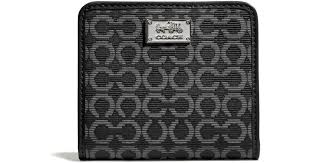 Lyst - Coach Madison Small Wallet in Needlepoint Op Art Fabric in Black