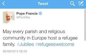 FrancisRefugeesTwitter
