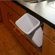 dropout cabinet fixtures 24 quart 6 gallon waste basket system in silver white