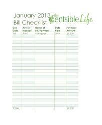 32 Free Bill Pay Checklists Bill Calendars Pdf Word Excel