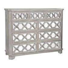 white wash dresser. Zin Home - Lattice Whitewash Wood Mirrored 9 Drawer Dresser Dressers White Wash