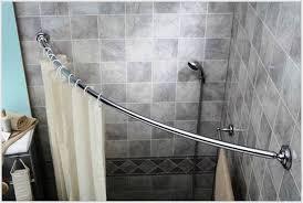image of shower curtain rods corner