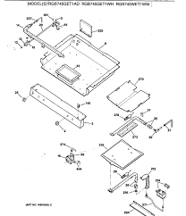 Assembly view for burners manifold gas control